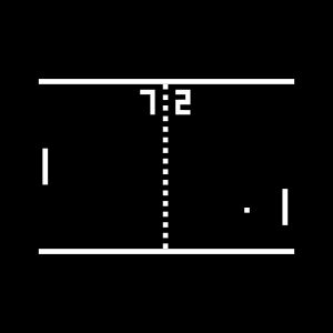 Pong Arcade Video Game - black het transfer on a black background