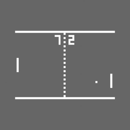 Pong Arcade Video Game - black het transfer on a grey background