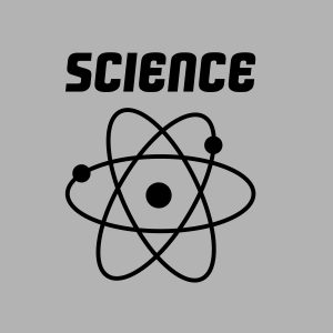 science black heat transfer on a grey t-shirt