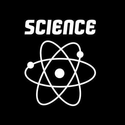 science white heat transfer on a black t-shirt