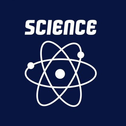 science white heat transfer on a navy t-shirt
