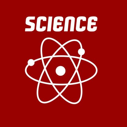 science white heat transfer on a red t-shirt
