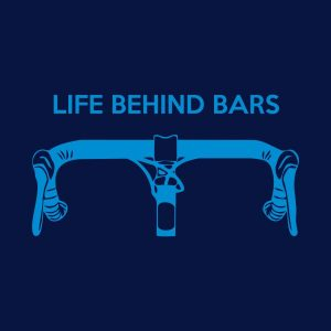 Life behind bars heat transfer on a navy blue tshirt