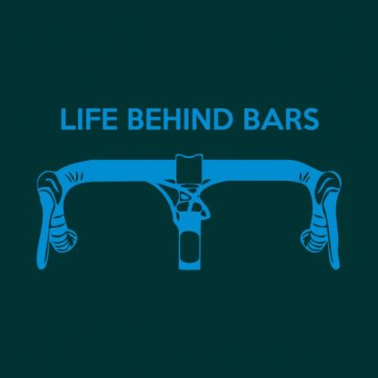 Life behind bars heat transfer on a navy dark green tshirt