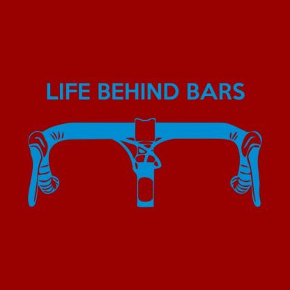 Life behind bars heat transfer on a red tshirt