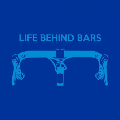 Life behind bars heat transfer on a royal blue tshirt
