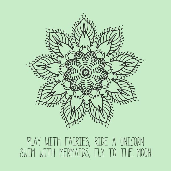Play with fairies heat transfer on a light green tshirt