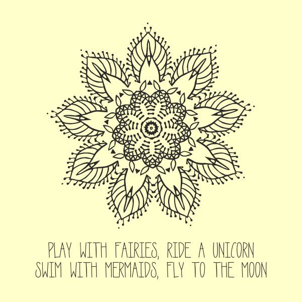 Play with fairies heat transfer on a light yellow tshirt