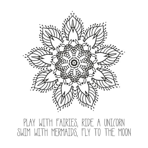 Play with fairies heat transfer on a white tshirt