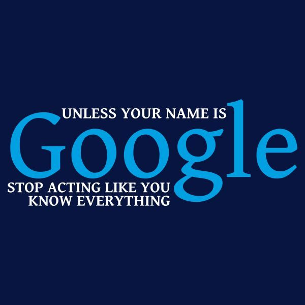 Unless your name is google heat transfer on a navy blue tshirt