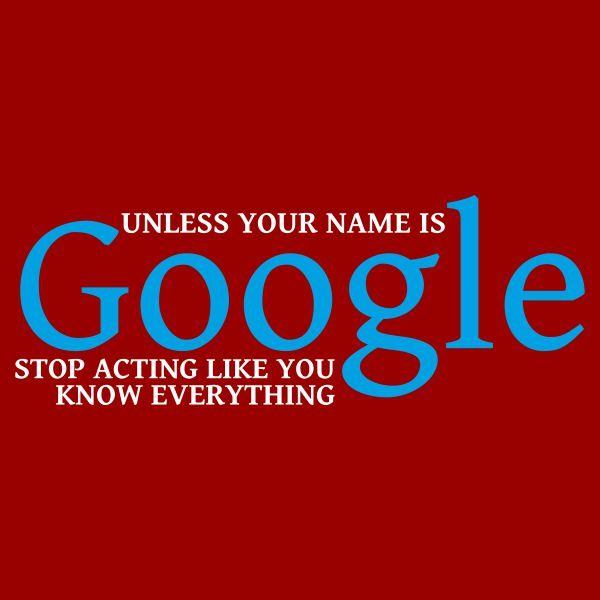Unless your name is google heat transfer on a red tshirt