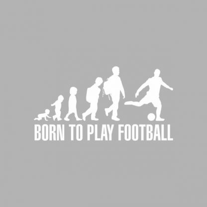 born to play football heat transfer on a grey t-shirt