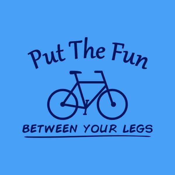 put the fun between your legs heat transfer on a light blue tshirt