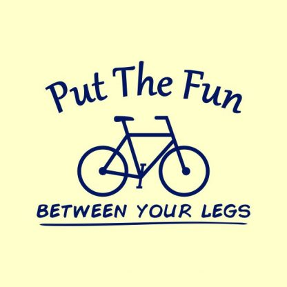 put the fun between your legs heat transfer on a yellow tshirt