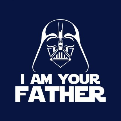 i'm your father heat transfer on a navy t-shirt