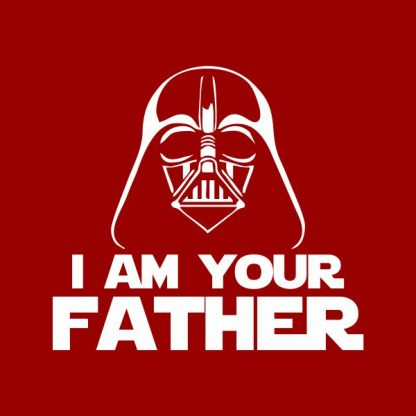 i'm your father heat transfer on a red t-shirt