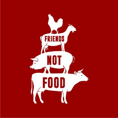 friends not food heat transfer on a red tshirt